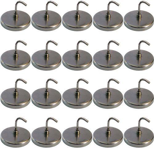 Satz Magnetische Schraubhaken, 20-tlg. (Durchmesser ca. 35 mm)
