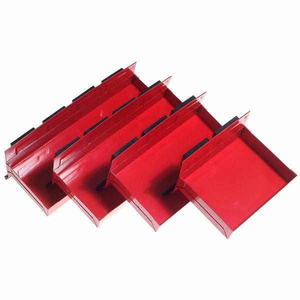 Magnet Ablagen für Werkzeuge und Spraydosen, 4-tlg.