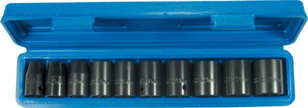 "1/2""-Antrieb Kraftsteckschlüssel-Satz Stecknuss-Set 10-tlg. CM-Stahl 10-24 mm"