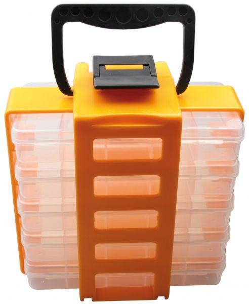 Universal Sortimentskoffer-Set für Kleinteile mit 5 herausnehmbaren Sortimentskästen