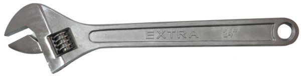 """Extra große Rollgabelschlüssel 24"""" gehärtet und verchromt, Kopf poliert"""