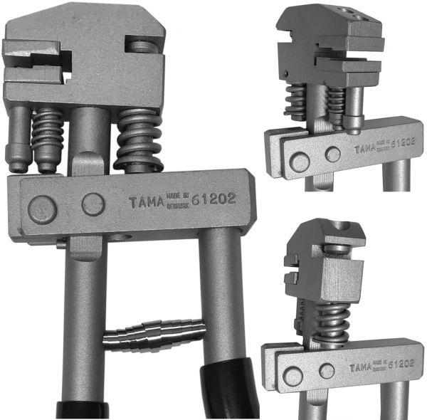 Original TAMA 61202 Kombizange zum Lochen und Falzen 6 mm (Original aus Dänemark)