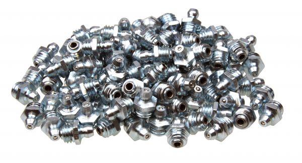 100 x Kegel-Schmiernippel, H1 Form A 0° gerade M10x1.5