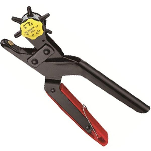 6 in 1 Universal-Profi-Revolverlochzange, Ø 2-4,5 mm (Hebelübersetzung)