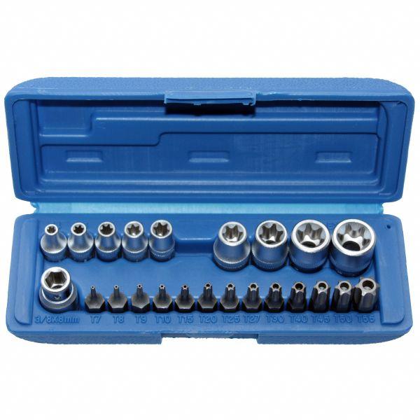 Steckschlüssel-Satz für Innen und Außen TORX®-Schrauben, 23-tlg.