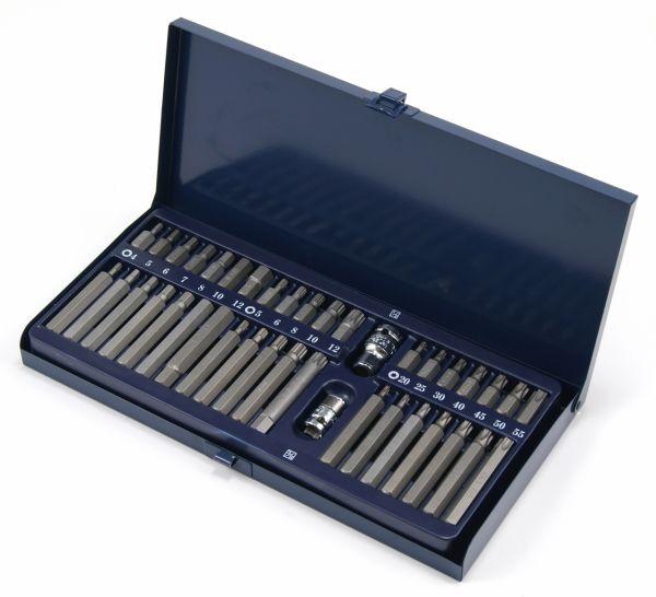 Steckschlüssel-Satz für TORX®, Innensechskant und Vielzahn Schrauben, 40-tlg.