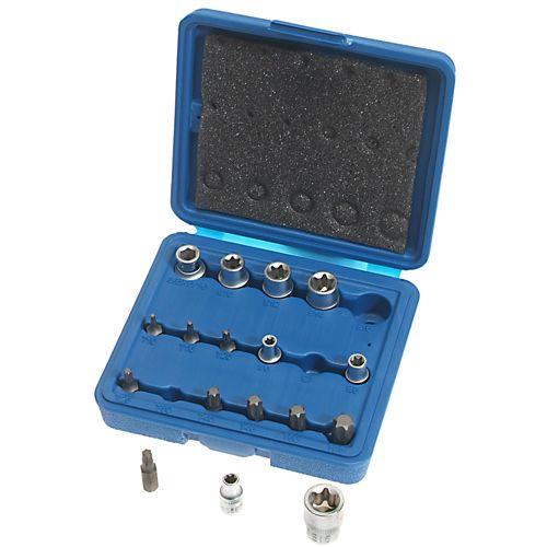 Steckschlüssel-Satz für Innen und Außen TORX®-Schrauben, 17-tlg.