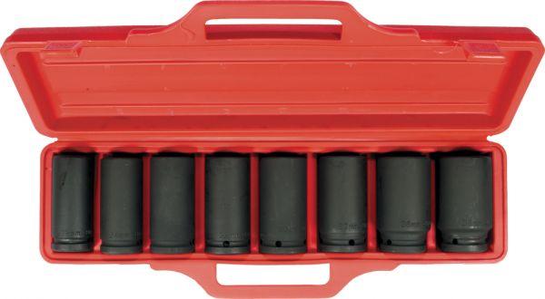 """3/4""""-Antrieb Kraftsteckschlüssel-Set Stecknuss-Garnitur tiefe Ausführung 8-tlg"""
