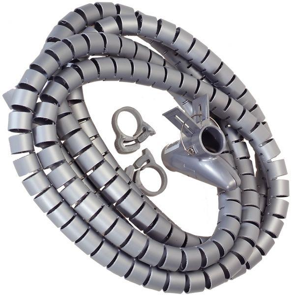 Flexible-Kabelspirale mit Einziehhilfe, Ø 20 mm / L2.5 m - GRAU