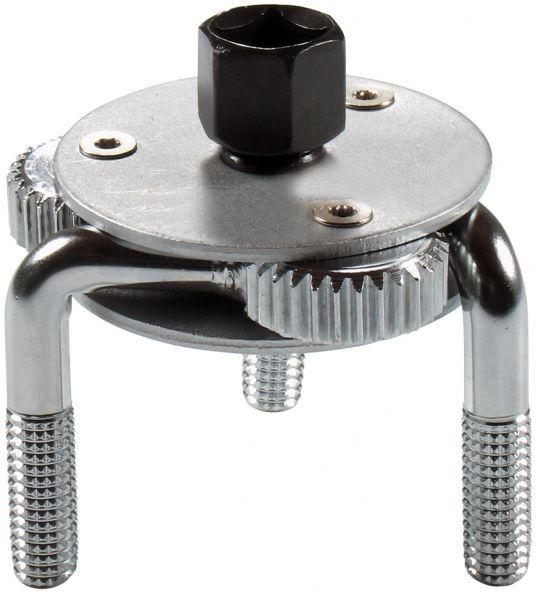 """Ölfilterspinne, 3-armig, ca. 65-130 mm mit 1/2""""- Adapter Ölfilterwerkzeug"""