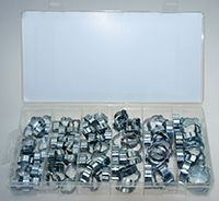 Mini Schlauchschellen 2 Ohr Leitungsschelle Schlauchklemmen Satz 8-20 mm 105-tlg