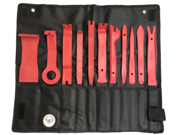 11 x Kunststoff Montagehebel Montierhebel Montagekeil f. Clips Türverkleidungen