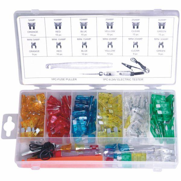 KFZ-Kunststoff-Sicherungen-Sortiment, 150-tlg.