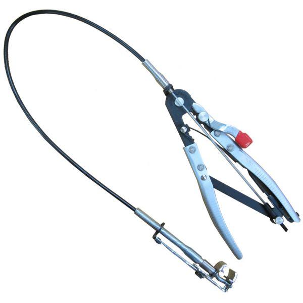 Spezial-Schlauchklemmen-Zange, mit extra lange Bowdenzug