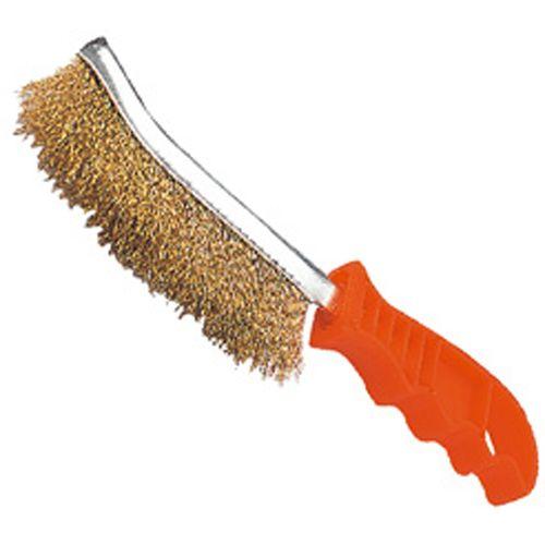 Drahtbürste Kratzbürste vermessingt 230 mm lang zum Entrosten Aufrauhen Säubern