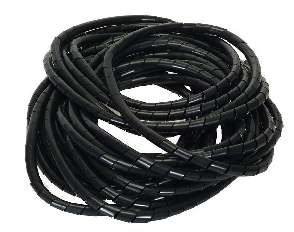 Flexible-Kabelspirale Spiralschlauch - Bündelbereich Ø6.0-60mm Länge10 m SCHWARZ